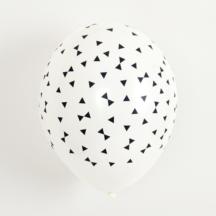 Ballon mit schwarzen Schleifen