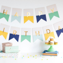 Geburtstagsgirlande Jungs