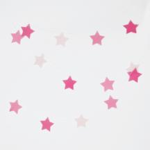 Girlande rosa Sterne