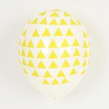 Ballon gelbe Dreiecke