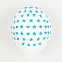 Ballon mit blauen Sternen