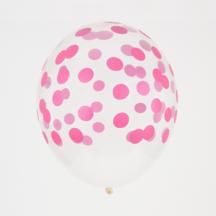 Durchsichten Ballon Konfetti Pink