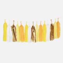 Tasselgirlande Gelb Dekorationsobjekten Hochzeit Party