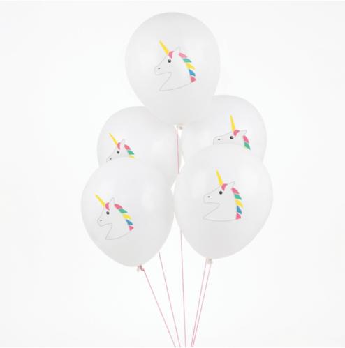 Süße Einhorn Ballons für den Kindergeburtstag