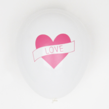 5 Ballons Love mit Herz