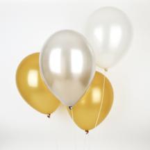 Ballons in gold silber und Perlmutt