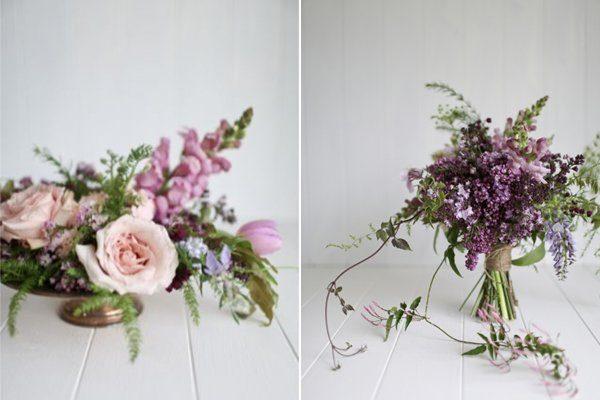 Blumen Hochzeit pink lila