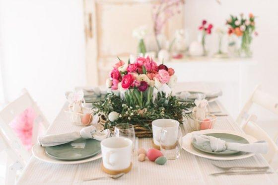 DIY Blumengesteck für Euren Ostertisch