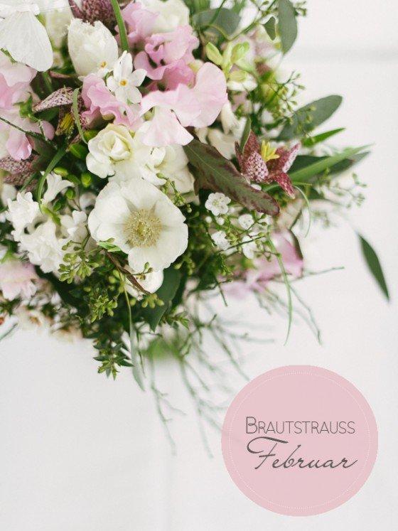 Brautstrauß Galerie Februar: Ein Winterbouquet mit Fell