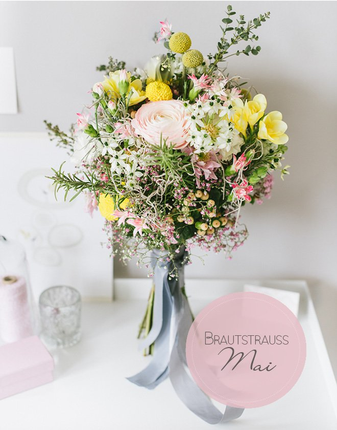 Blumen für den Brautstrauß im Mai
