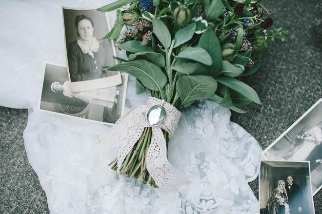 Brautstrauß mit Kräutern Juli