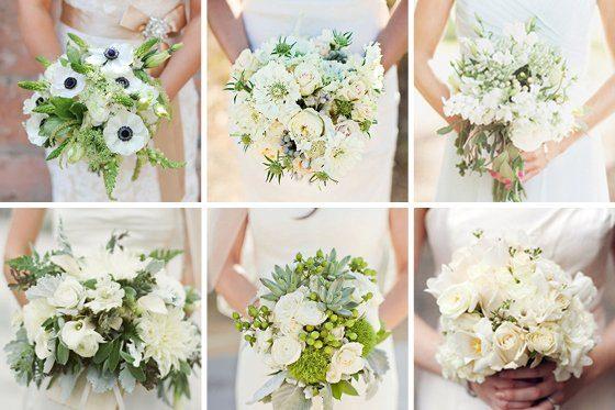 Brautsträuße die zweite Runde: weiß und grün - ein Klassiker ...