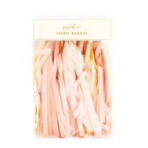 pink gelb weiße Tassel Girlande