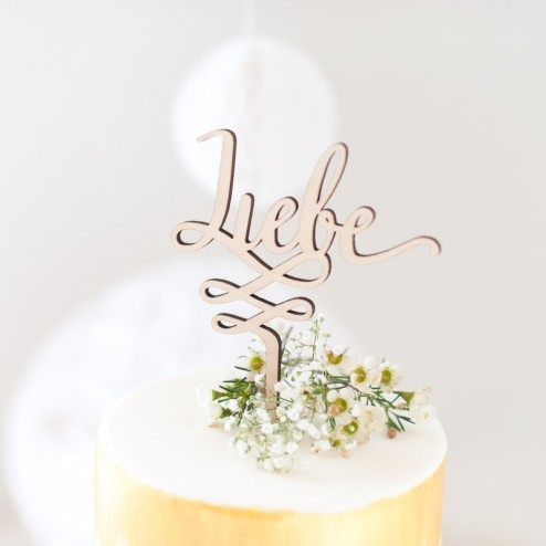 Cake Topper Holz Liebe