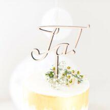 Cake Topper Holz Ja