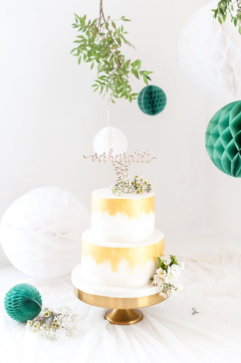 Cake Topper Holz Verheiratet Fraulein K Sagt Ja Partyshop