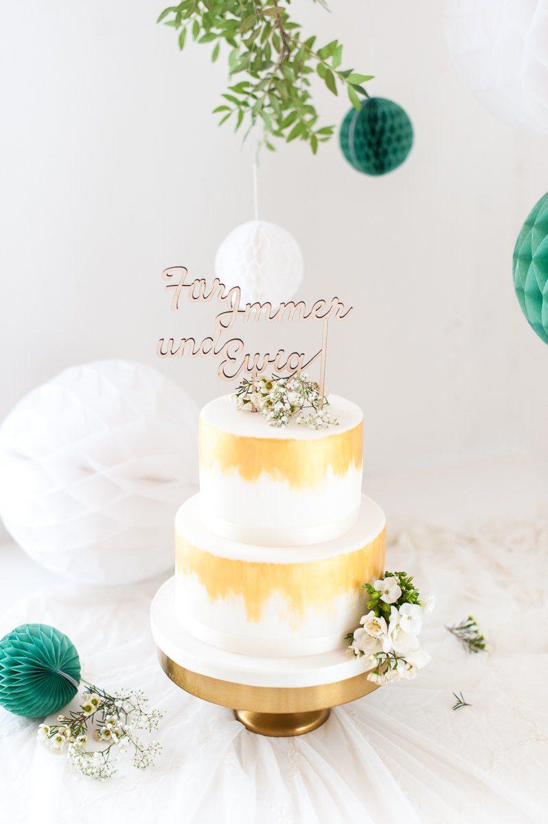 Cake Topper Holz Fur Immer Und Ewig Fraulein K Sagt Ja Partyshop