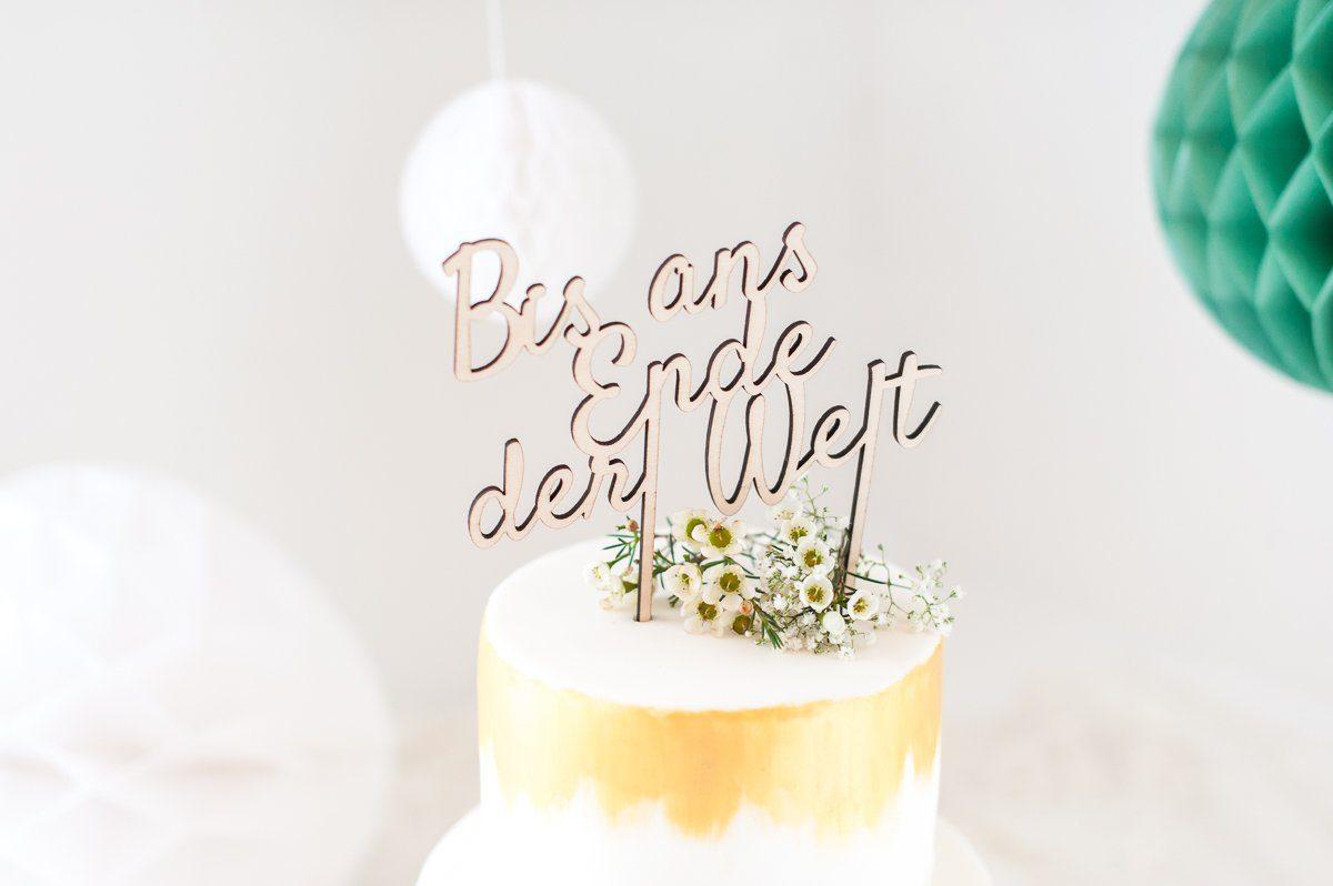 Cake Topper Holz Bis Ans Ende Der Welt