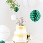 Cake Topper Holz für die Hochzeitstorte