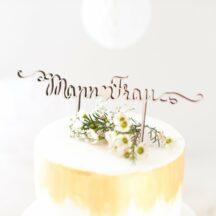 Cake Topper Holz -Mann und Frau - Für die Hochzeitstorte