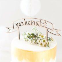 Cake Topper Holz - verheiratet
