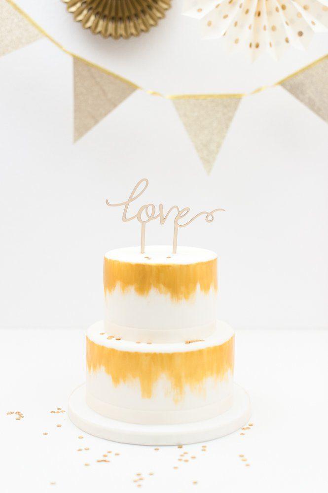 Cake Topper Holz Love Fraulein K Sagt Ja Partyshop