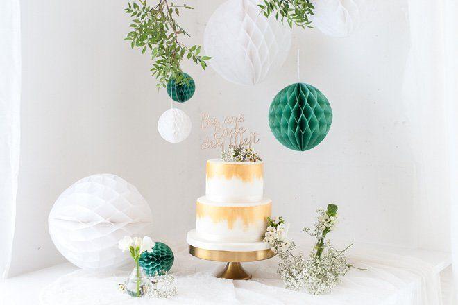Cake Topper - Schriftzug als Tortenfigur auf Hochzeitstorten made by Frl. K sagt Ja