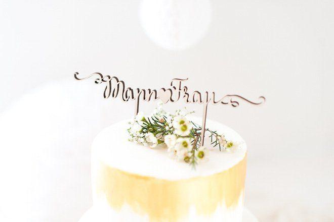 Cake Topper - Schriftzug als Tortenfigur auf Hochzeitstorten made by Frl. K sagt Ja2
