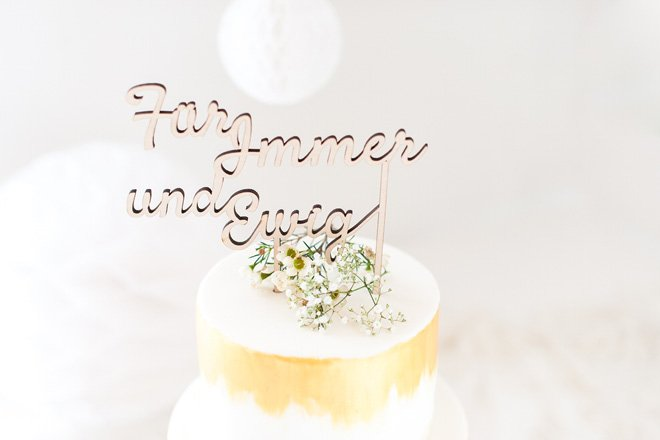Cake Topper - Schriftzug als Tortenfigur auf Hochzeitstorten made by Frl. K sagt Ja5