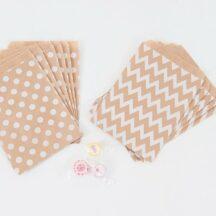Candybar Tüte Kraftpapier weiß gepunktet-001
