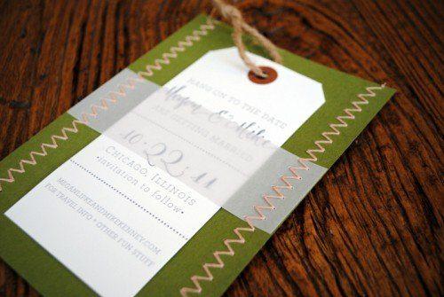 Schicke Einladungskarten selbst genäht