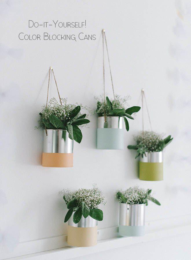 Blechdosen für die florale Hochzeitsdeko