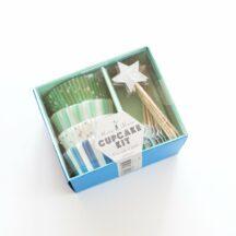 Cupcake Kit meri meri blau grün-1