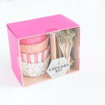 Cupcake Set Meri Meri rosa-2