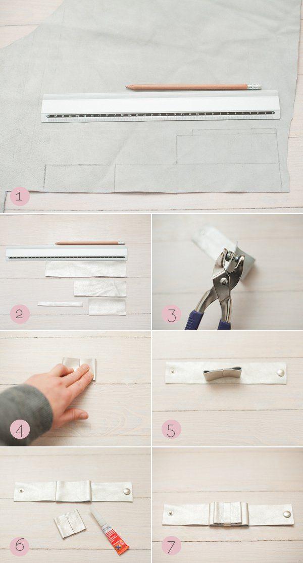 DIY Anleitung Lederarmband Leather Bracelet