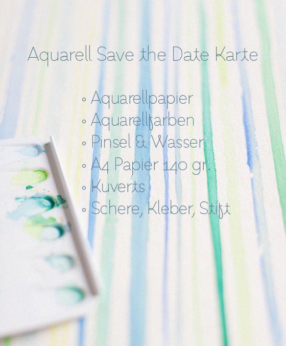 ballkleider diy save the date karte mit aquarell by. Black Bedroom Furniture Sets. Home Design Ideas