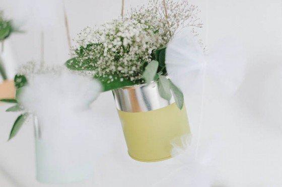 DIY: Color Blocking Blechdosen für die Hochzeitsdeko