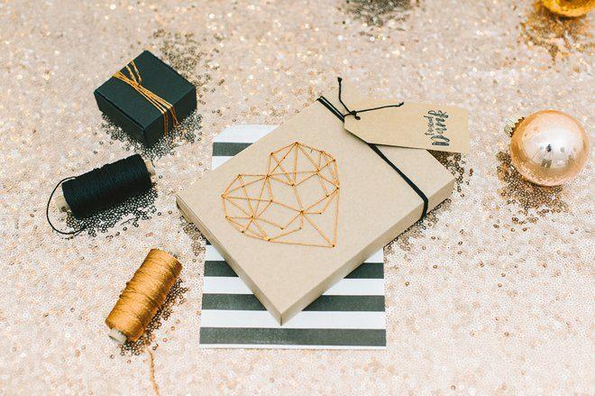 DIY Fotobox mit gesticktem Herz aus Kupfergarn10