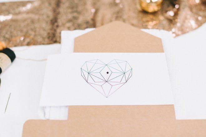 DIY Fotobox mit gesticktem Herz aus Kupfergarn2