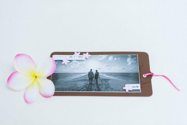 DIY Hochzeit Papeterie pink braun