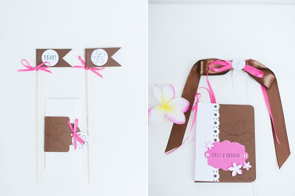 DIY Hochzeit Papeterie pink braun3
