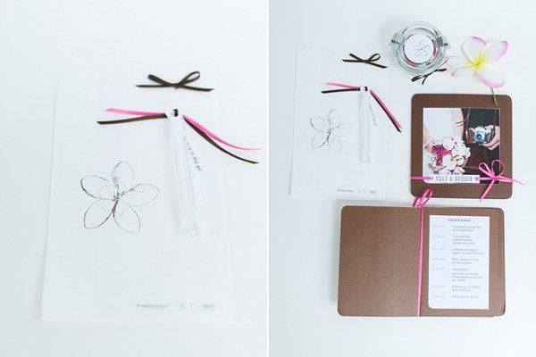 DIY Hochzeit Papeterie pink braun4