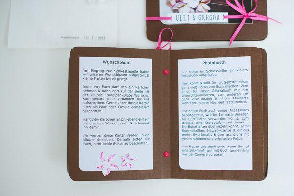 DIY Hochzeit Papeterie pink braun5