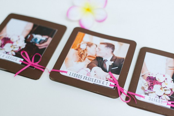 DIY Hochzeit Papeterie pink braun6