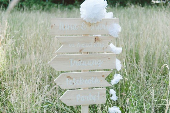 DIY: Hochzeitschilder selbst herstellen