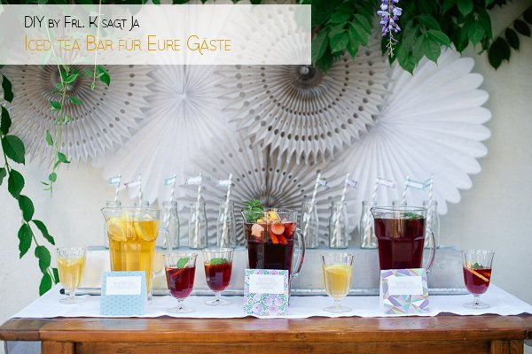 DIY Iced Tea Party Hochzeit Frl. K