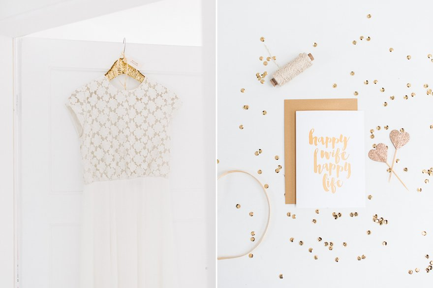 DIY Kleiderbügel für das Brautkleid 9