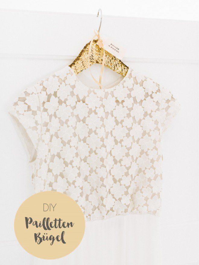 DIY Kleiderbügel für das Brautkleid