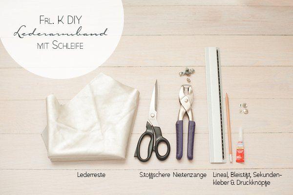 DIY Lederarmband mit Schleife