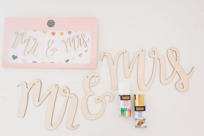 DIY Mrs Ms Holzgirlande in Gold Ombre -1